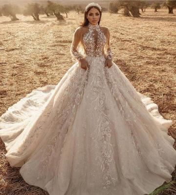 Extravagante Hochzeitskleider Mit Spitze | Brautkleider Lange Ärmel_2