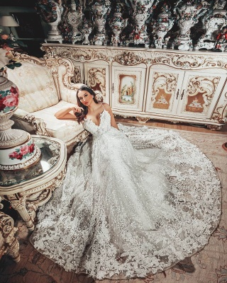 Gorgeous wedding dresses A line | Wedding dresses lace_5