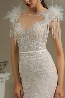 Designer Hochzeitskleider Meerjungfrau | Spitze Brautkleider Online_4
