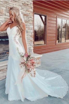 Schöne Brautkleider Meerjungfrau | Hochzeitskleider mit Spitze_1