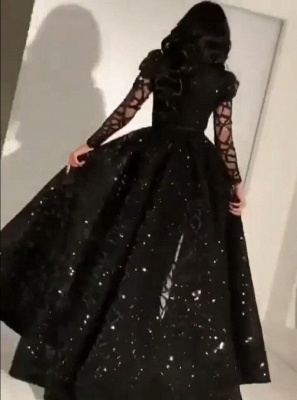 Elegant evening dress with sleeves | Prom dresses evening wear online_2