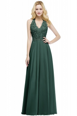 Abendkleider Lang V Ausschnitt | Abiballkleider Rosa_4