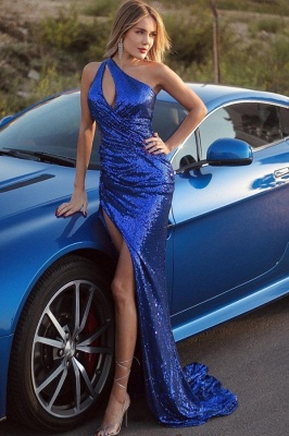 Prom dresses king blue | Evening dresses long glitter