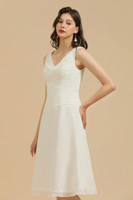 Schlichte Brautjungfernkleider Weiß | Kurze Kleider Für Brautjungfern_4