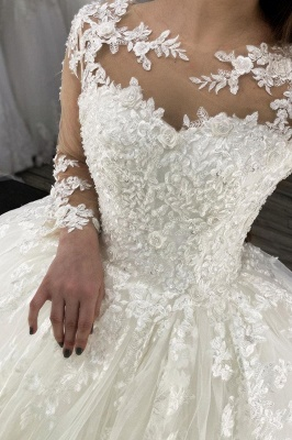 Designer wedding dresses princess | Wedding dresses with lace sleeves_2
