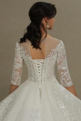 Hochzeitskleid Standesamt A Linie | Brautkleider mit Ärmel_7