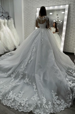 Designer wedding dresses princess | Wedding dresses with lace sleeves_4