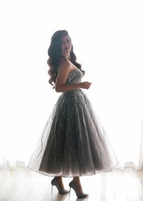 Luxury evening dresses short | Cocktail dresses prom dresses with glitter_4
