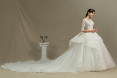 Hochzeitskleid Standesamt A Linie | Brautkleider mit Ärmel_3