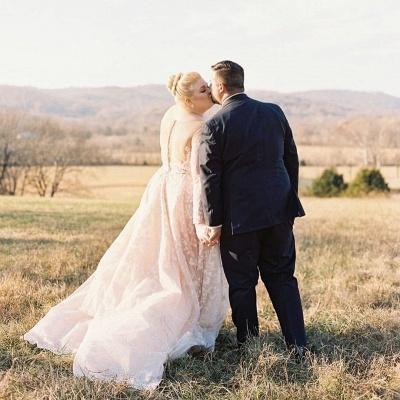 Brautkleider Große Größe | Übergroße Hochzeitskleider mit Ärmel_2