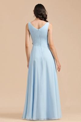 Schöne Brautjungfernkleider Lang Blau | Chiffon Kleider Für Brautjungfern_3