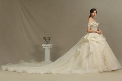 Elegante Hochzeitskleider Prinzessin | Brautkleider mit Spitze_5
