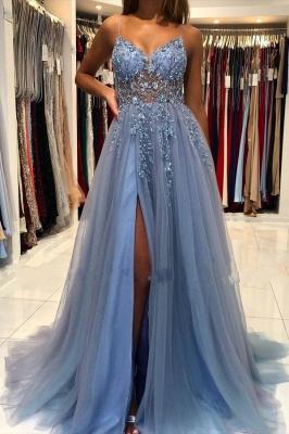 Blaues Abendkleider Lang Günstig | Abiballkleider Online Kaufen_1