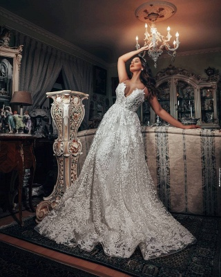 Gorgeous wedding dresses A line | Wedding dresses lace_3