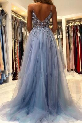 Blaues Abendkleider Lang Günstig | Abiballkleider Online Kaufen_2