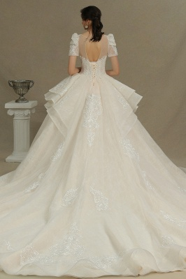 Extravagant wedding dresses A line | Wedding dresses with lace_7