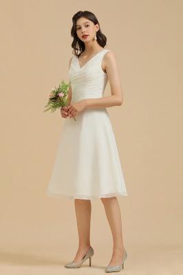 Schlichte Brautjungfernkleider Weiß | Kurze Kleider Für Brautjungfern_8