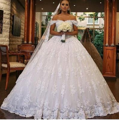 Luxus Brautkleider mit Spitze | Prinzessin Hochzeitskleider Günstig_2