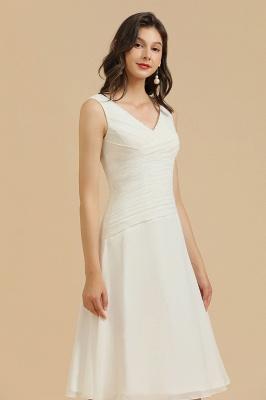 Schlichte Brautjungfernkleider Weiß | Kurze Kleider Für Brautjungfern_6