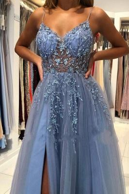 Blaues Abendkleider Lang Günstig | Abiballkleider Online Kaufen_4