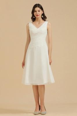 Schlichte Brautjungfernkleider Weiß | Kurze Kleider Für Brautjungfern_2