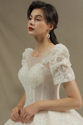 Extravagant wedding dresses A line | Wedding dresses with lace_6