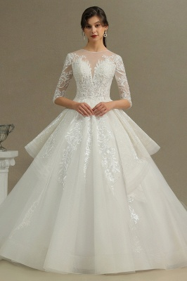 Wedding dress registry office A line | Wedding dresses with sleeves