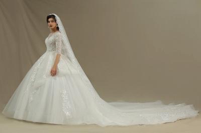 Hochzeitskleid Standesamt A Linie | Brautkleider mit Ärmel_4