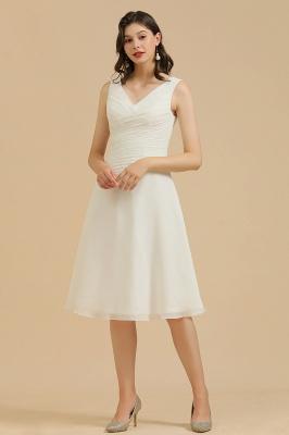 Schlichte Brautjungfernkleider Weiß | Kurze Kleider Für Brautjungfern_1