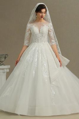 Hochzeitskleid Standesamt A Linie | Brautkleider mit Ärmel_2