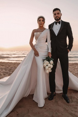 Schöne Brautkleider A Linie | Hochzeitskleider Glitzer Mit Ärmel_6