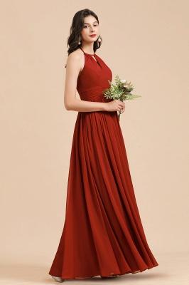 Schöne Brautjungfernkleider Lang Rot | Hochzeitspartykleider Günstig_7