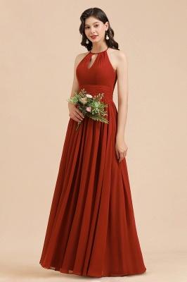 Schöne Brautjungfernkleider Lang Rot | Hochzeitspartykleider Günstig