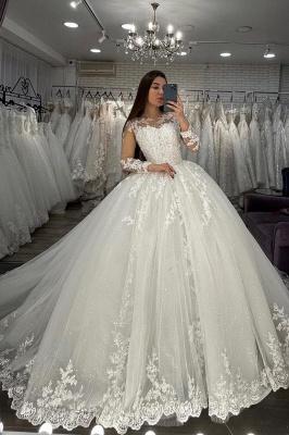 Designer wedding dresses princess | Wedding dresses with lace sleeves_3