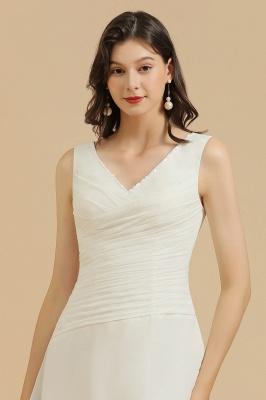 Schlichte Brautjungfernkleider Weiß | Kurze Kleider Für Brautjungfern_7