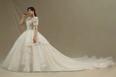 Extravagant wedding dresses A line | Wedding dresses with lace_3