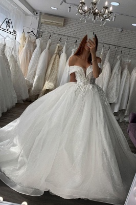 Beautiful white wedding dresses | Wedding dresses Princess Kuafen