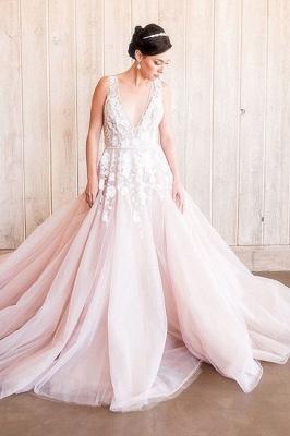 Designer Brautkleider A Linie | Hochzeitskleider Blush Pink_1