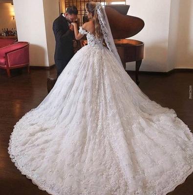 Luxus Brautkleider mit Spitze | Prinzessin Hochzeitskleider Günstig_3