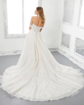 Modern wedding dress A line | Cheap wedding dresses online_2
