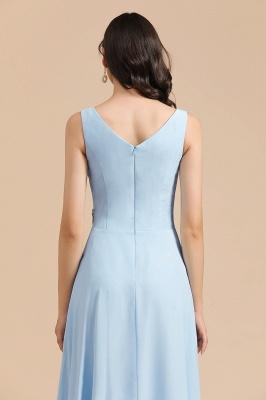 Schöne Brautjungfernkleider Lang Blau | Chiffon Kleider Für Brautjungfern_9
