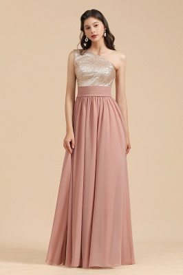 Bridesmaid Dresses Long Dusty Pink | Chiffon dresses with glitter