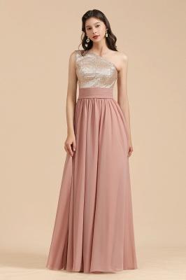 Brautjungfernkleider Lang Altrosa | Chiffon Kleider Mit Glitzer