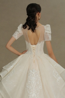 Extravagant wedding dresses A line | Wedding dresses with lace_9