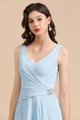 Schöne Brautjungfernkleider Lang Blau | Chiffon Kleider Für Brautjungfern_8