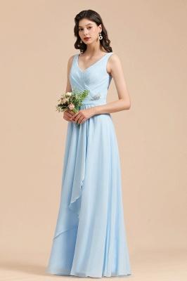 Schöne Brautjungfernkleider Lang Blau | Chiffon Kleider Für Brautjungfern_6