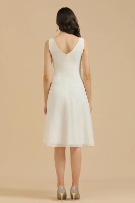 Schlichte Brautjungfernkleider Weiß | Kurze Kleider Für Brautjungfern_3