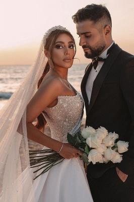 Schöne Brautkleider A Linie | Hochzeitskleider Glitzer Mit Ärmel_7