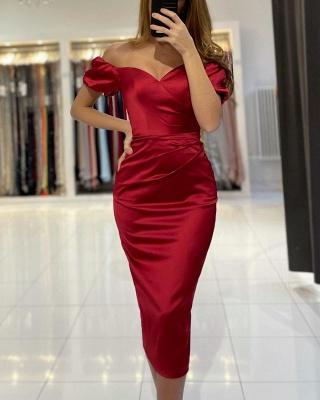 Rote Cocktailkleider Partykleider | Abendkleider Kurz Günstig_3