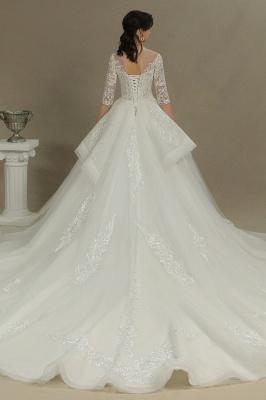 Hochzeitskleid Standesamt A Linie | Brautkleider mit Ärmel_5